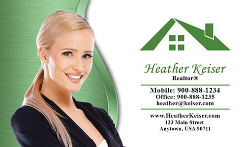 Elegant Real Estate Agent Business Card - Design #106554